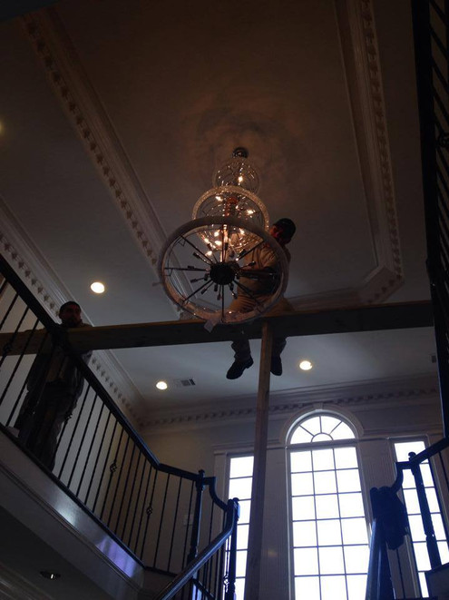 Installing a new Chandelier