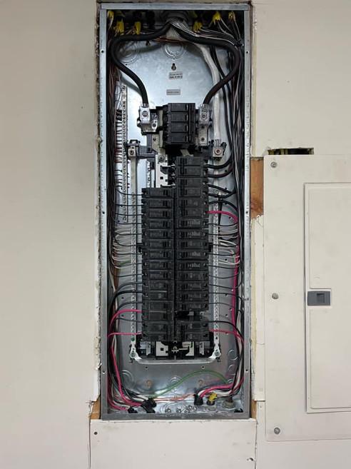 New eletric panel upgrade