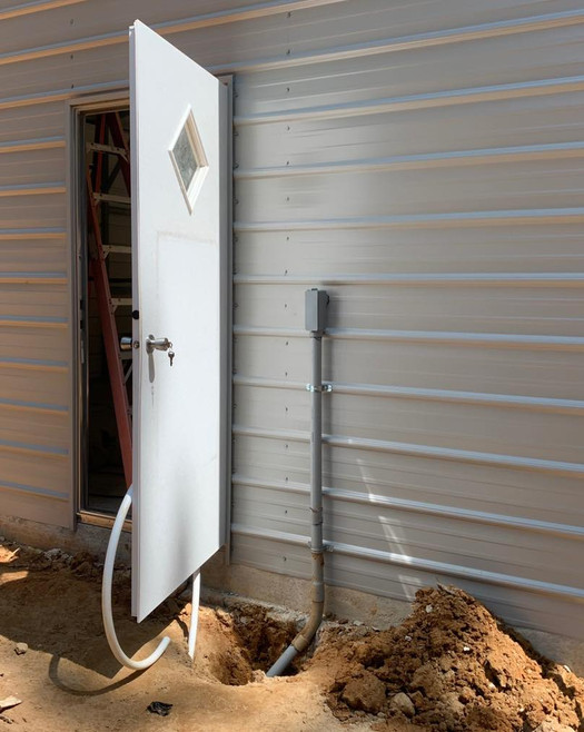 Installing wires and power to an outdoor shed
