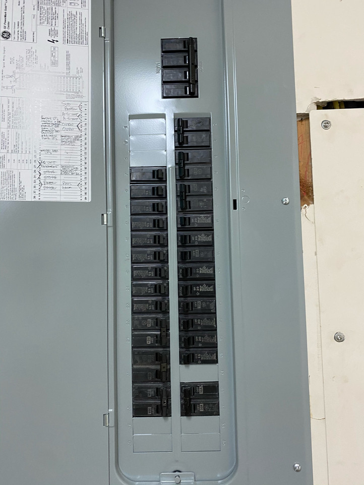 New electric panel installed