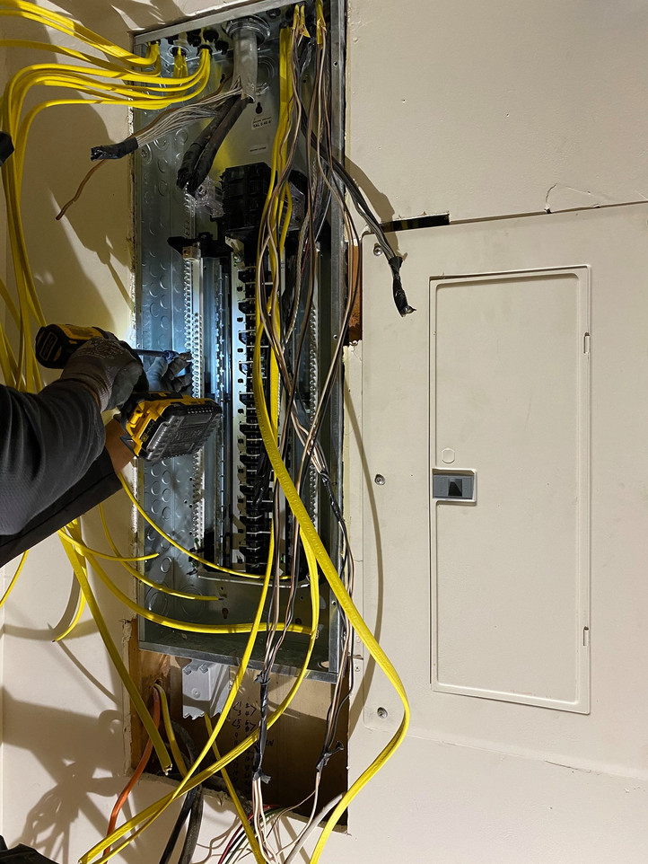 Rewiring to upgrade an electric panel