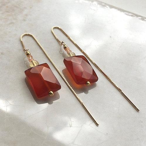 Sardonyx Threader Earrings