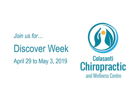 Celebrate Spring with Discover Week at Colasanti Chiropractic