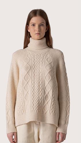 Stretch Wool Turtleneck Sweater