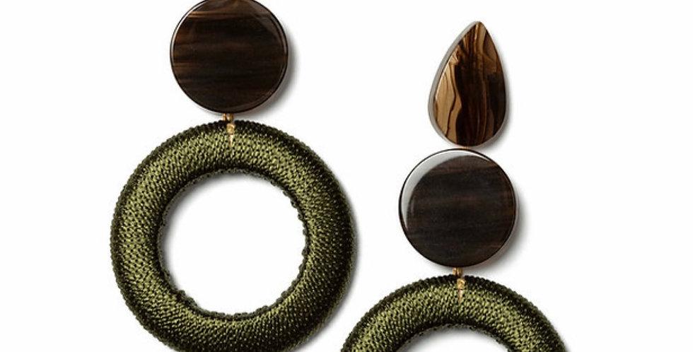 Merino Earrings Green