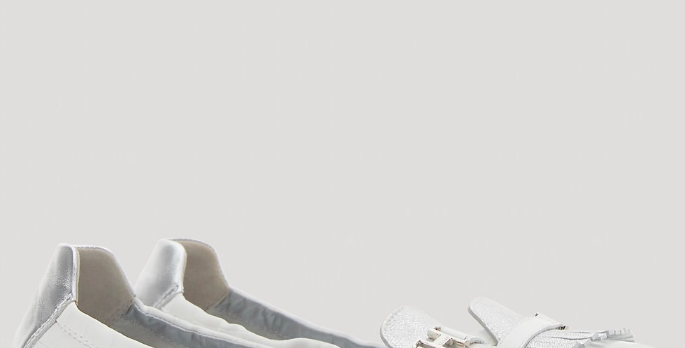 Hogan Ballerine wit/zilver