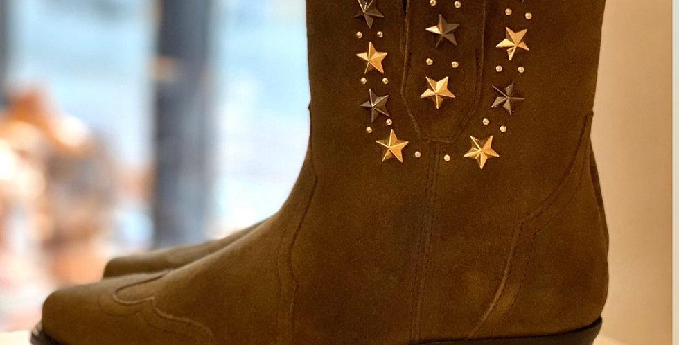 Twinset boot khaki/ster