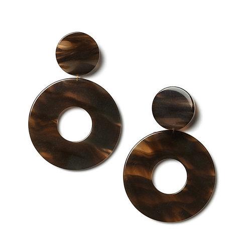 Marble Earrings Brown