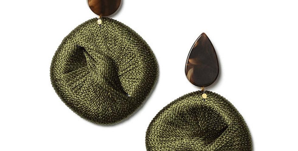 String Earrings Green
