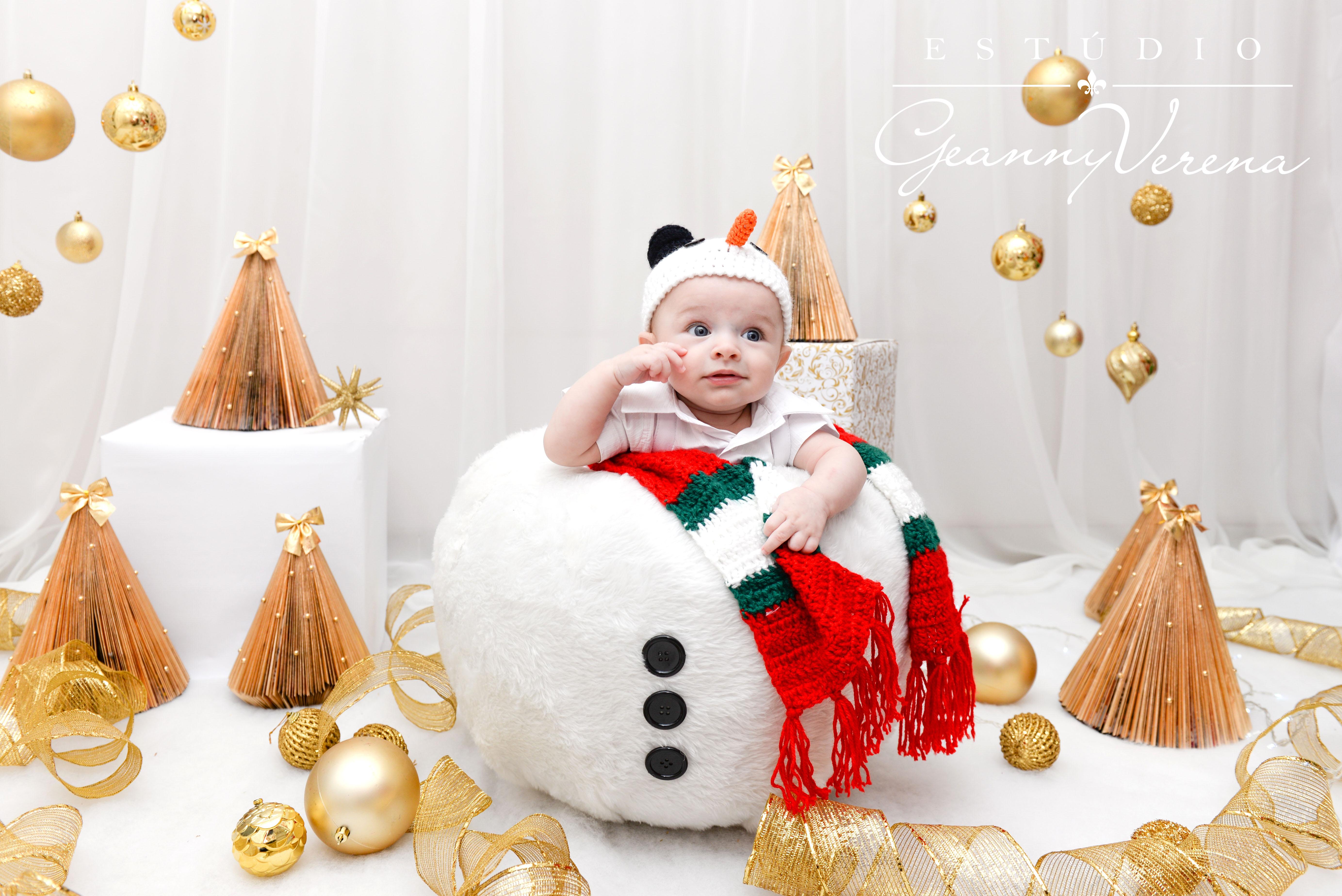 Ensaio com boneco de neve