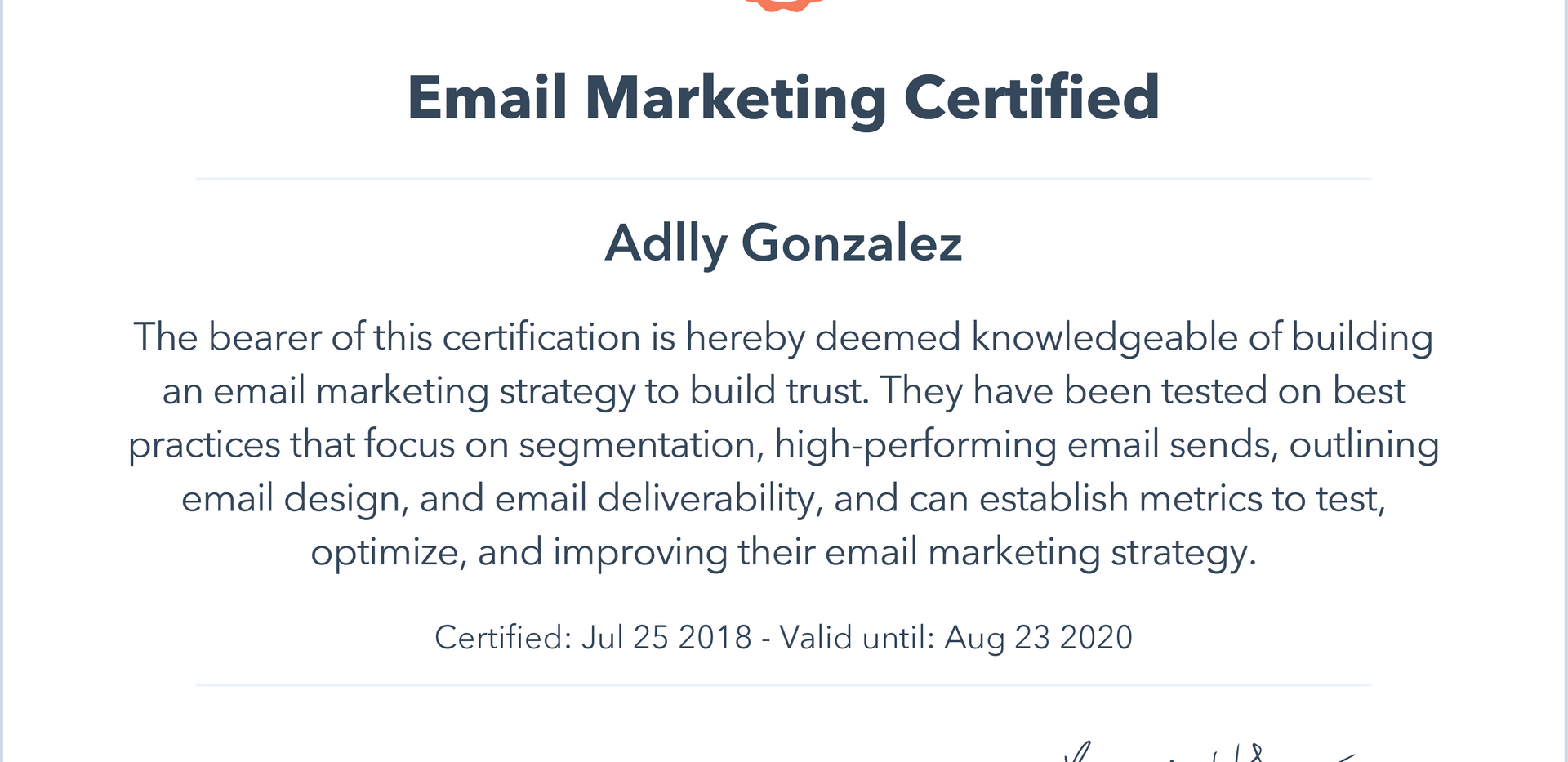 Hubspot. Email marketing certified.png