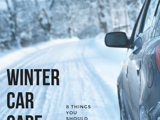 Winter Car Care: 8 Things You Have To Do Now