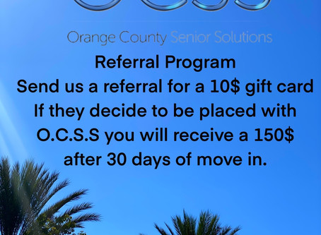 O.C.S.S. New Referral Program Launch for 2020