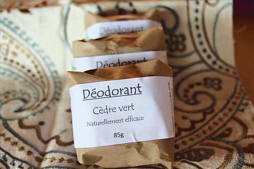 Déodorant solide: Cèdre vert