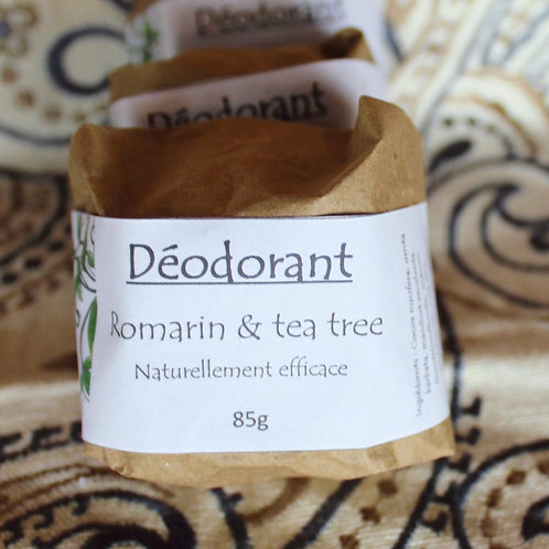 Déodorant solide: Romarin & Tea Tree