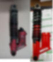 restauracon de amortiguadores para motos clasicas incluido pintura en polvo y cromado delos mismos y adhesivos