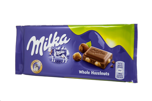 Milka Whole Hazelnuts Bar