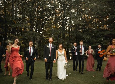 Stefanie + Will   New Hampshire Camp Wedding