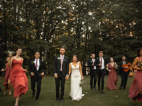 Stefanie + Will | New Hampshire Camp Wedding