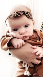 Leopard Print Mama Tee - Holding baby