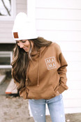Coffee Campfire Hoodie with Leather patch white toque