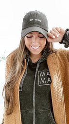 Mineral Mama Hoodie - with brown leather jacket