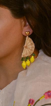 STRAW DROP Earrings - Lemon