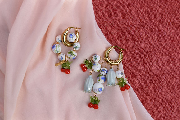 CHERRY BLUES Hoops - Earrings