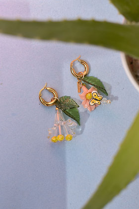 BUTTER-FLY AWAY Hoop Earrings