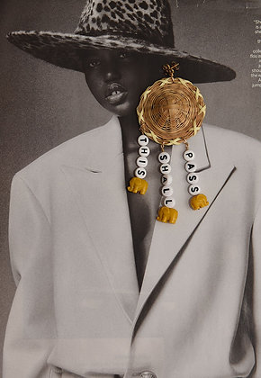 THIS SHALL PASS STRAW HAT - Earring