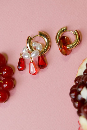 RED AS POMEGRANATE Hoops