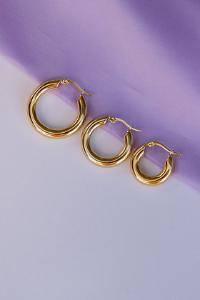 SIMPLE GOLDIE Hoops - 3 Sizes