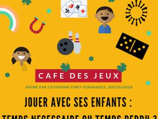 3 mai 2019 : animation d'un café des parents autour du jeu : jouer avec ses enfants : temps néce