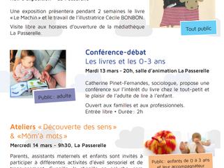 Conférence : Le livre et les 0/3 ans, le 13 mars, à La Tour du Pin