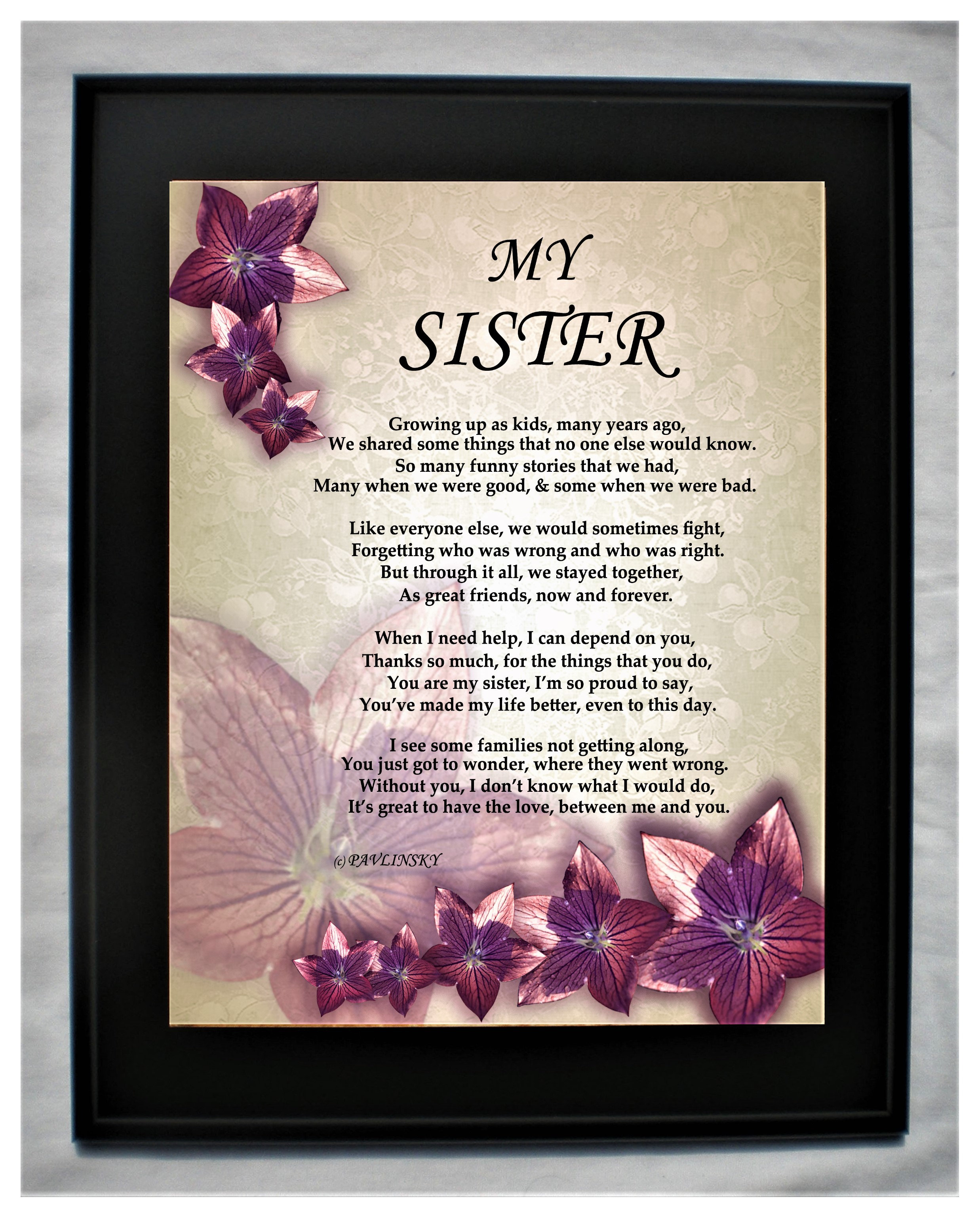 My Sister | pavlinsky-poems