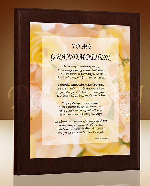 To My Grandmother