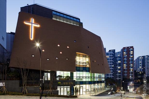 양우상 건축사진 성동교회 야경