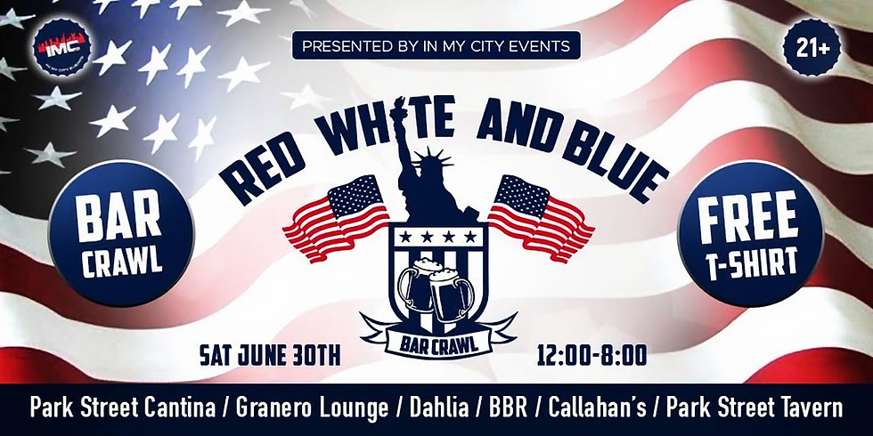 Red, White, and Blue Bar Crawl