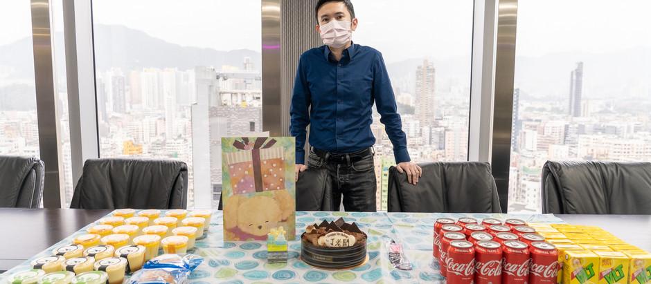 Galaxy Engineering Holding Co. Ltd. 銀河工程集團同事為老闆 丁天佑先生慶祝生日,祝 丁老闆 生日快樂,身體健康。