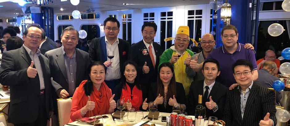 銀河消防集團主席 丁天佑先生 於ClubONE水中天出席獅子山獅子會43周年慈善化妝晚會