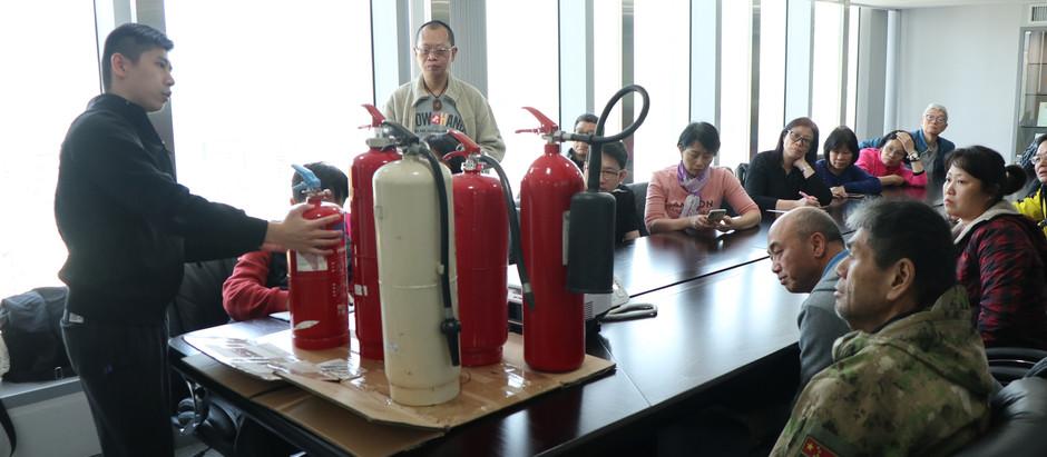 銀河消防集團獲保安及物業管理再培訓課程邀請提供消防設備操作講座