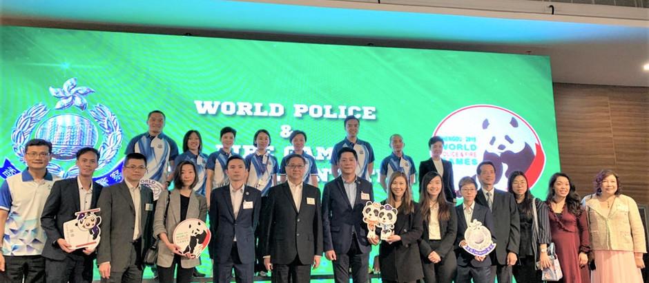 銀河消防集團主席 丁天佑先生 於灣仔香港警察總部出席世界警察及消防運動會2019授旗儀式
