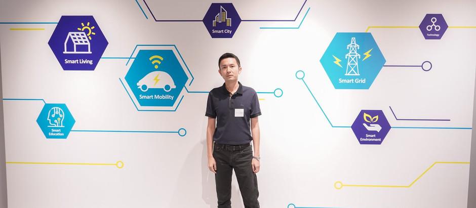 銀河消防集團主席 丁天佑先生 於深水埗中電智能匯出席「中電慳電營商講座」