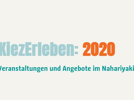2020: KiezErleben: Eine monatliche Angebotsübersicht