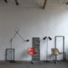 loft industriel vintage atelier lampe potence fabrication France savoir faire