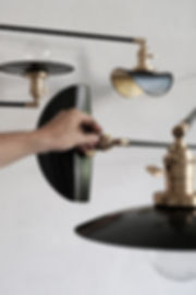Handmade shade black patina brass finish craft France