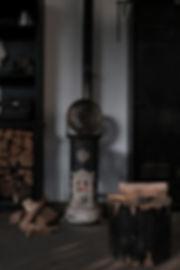 Poêle à bois ancien vintage design studio artisanal france