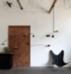grande lampe potence pivotante articulée tube acier ajustable