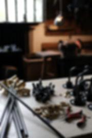 industrial parts brass socket uno design french handmade atelier