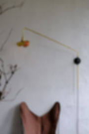applique murale vintage design lampe potence laiton bras cintré